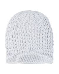 Madeleine Thompson - Blue Maddy Cable-knit Cashmere Beanie - Lyst