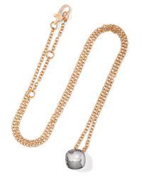 Pomellato - Metallic Nudo 18-karat Rose Gold Topaz Necklace - Lyst