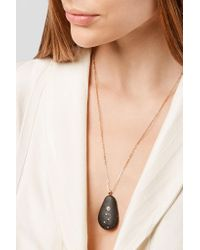 Cvc Stones - Metallic Medusa 18-karat Gold, Stone And Diamond Necklace - Lyst