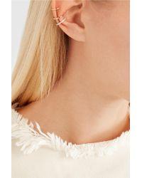 Maria Black - Metallic Laurel Blanc 18-karat Gold, Rhodium-plated And Diamond Ear Cuff - Lyst
