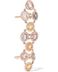 Amrapali | Metallic Blossom 18-karat Gold, Sapphire And Diamond Ring | Lyst