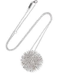 Suzanne Kalan - 18-karat White Gold Diamond Necklace - Lyst