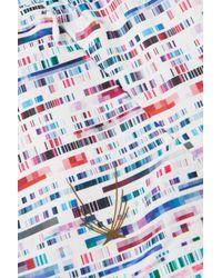 Lucas Hugh - White Glitch Printed Stretch Shorts - Lyst