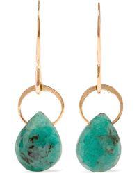 Melissa Joy Manning | Metallic 14-karat Gold Emerald Earrings | Lyst