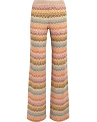 Missoni - Multicolor Metallic Crochet-knit Wide-leg Pants - Lyst