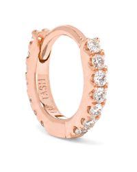 Maria Tash - Pink Mini 18-karat Rose Gold Diamond Earring - Lyst