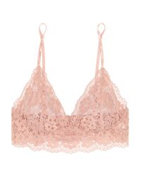 Hanky Panky - Pink Sophia Stretch-corded Lace Soft-cup Triangle Bra - Lyst