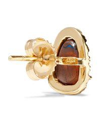 Kimberly Mcdonald - Metallic 18-karat Gold, Opal And Diamond Earrings - Lyst