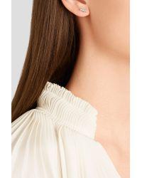 Suzanne Kalan - Metallic 18-karat White Gold Diamond Earrings White Gold One Size - Lyst