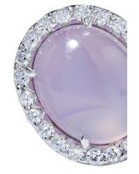 Kimberly Mcdonald - Multicolor 18-karat White Gold, Moonstone And Diamond Earrings - Lyst