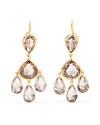 Marie-hélène De Taillac | Metallic Gabrielle D'estrées 22-karat Gold Quartz Earrings | Lyst
