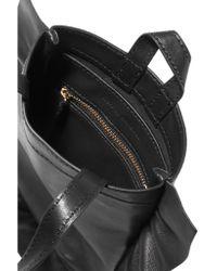 Loeffler Randall - Black Ruffled Leather Mini Wristlet Bag - Lyst