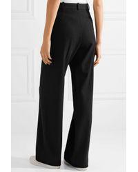 See By Chloé - Black Stretch-twill Wide-leg Pants - Lyst