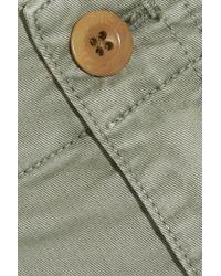 Madewell - Green Stretch-cotton Twill Shorts - Lyst
