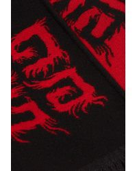 Givenchy - Black Wool And Silk-blend Jacquard Scarf - Lyst
