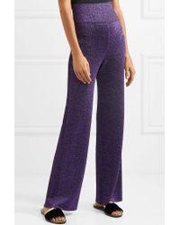 Missoni | Purple Metallic Knitted Wide-leg Pants | Lyst