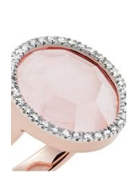 Monica Vinader - Multicolor Naida Circle Rose Gold Vermeil, Quartz And Diamond Ring - Lyst