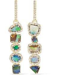 Kimberly Mcdonald - Metallic 18-karat Gold, Opal And Diamond Earrings - Lyst