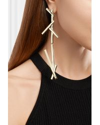 Jennifer Fisher - Metallic La Ligne Slash Duster Gold-plated Earrings - Lyst