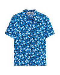 Marni | Blue Printed Cotton-poplin Shirt | Lyst