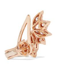 Stephen Webster - Metallic Hearts On Fire White Kites Flight Large 18-karat Rose Gold Diamond Earrings Rose Gold One Size - Lyst