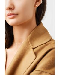 Mizuki - Metallic 14-karat Gold Pearl Earrings Gold One Size - Lyst