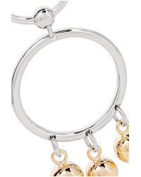 Eddie Borgo - Metallic Barbell Chandelier Gold And Silver-plated Earrings - Lyst