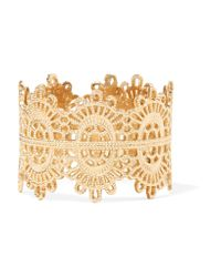 Grace Lee - Metallic Lace 14-karat Gold Ring - Lyst