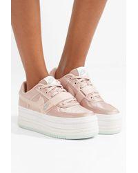 Nike - Pink Vandal 2k Faux Leather-trimmed Metallic Faille Platform Sneakers - Lyst