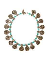 Etro - Metallic Gold-tone Beaded Necklace - Lyst