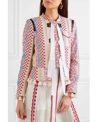 Altuzarra - White Avenue Tasseled Jacquard Jacket - Lyst