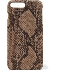 The Case Factory Brown Python-effect Nubuck Iphone 7 Plus Case