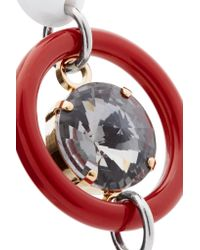 Marni - Red Gold And Silver-tone, Resin And Crystal Earrings - Lyst