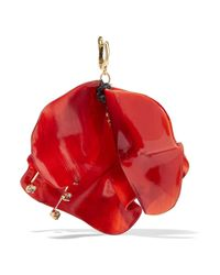 Marni - Red Gold-tone, Horn And Crystal Earrings - Lyst