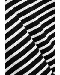 J.Crew - Black Tissue Striped Cotton-jersey Turtleneck Top - Lyst