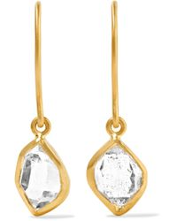 Pippa Small - Metallic 18-karat Gold Herkimer Diamond Earrings - Lyst