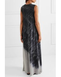 Raquel Allegra | Gray Tie-dyed Cotton-blend Jersey Maxi Dress | Lyst