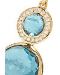 Ippolita - Metallic Lollipop 18-karat Gold, Topaz And Diamond Earrings - Lyst