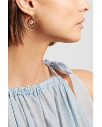 Noor Fares - Metallic 18-karat Gray Gold Multi-stone Earrings Gold One Size - Lyst