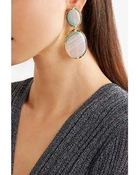 Rosantica - Metallic Parche Gold-tone Agate Clip Earrings - Lyst