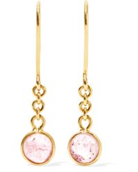 Pippa Small - Metallic Rain Drop 18-karat Gold Tourmaline Earrings - Lyst