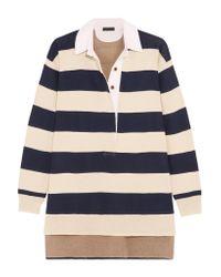 J.Crew - Blue Garret Oversized Striped Merino Wool Polo Top - Lyst