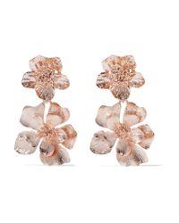 Oscar de la Renta | Multicolor Rose Gold-plated Clip Earrings | Lyst