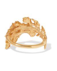 Oscar de la Renta - Metallic Gold-tone Bracelet - Lyst