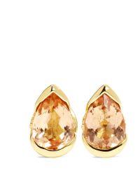 Fernando Jorge   Metallic Bloom 18-karat Gold, Topaz And Diamond Earrings   Lyst