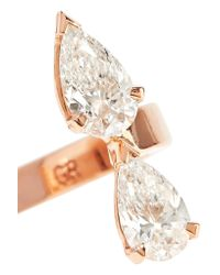 Repossi - Multicolor Serti Sur Vide 18-karat Rose Gold Diamond Ring - Lyst
