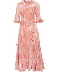 Rejina Pyo - Pink Alina Velvet Dress - Lyst