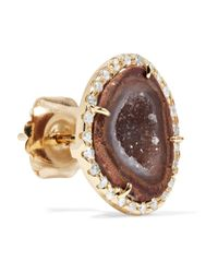 Kimberly Mcdonald - Metallic 18-karat Gold, Geode And Diamond Earrings - Lyst