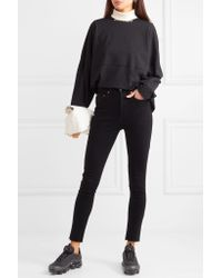 Re/done - Black Jean Skinny High Rise Ankle Crop - Lyst