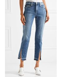 Le Nouveau Distressed Mid-ride Straight-leg Jeans - Blue Frame Denim 100% Guaranteed Sale Online Pictures Online Shopping Online Cheap Ebay Get To Buy Cheap Price fct7nv